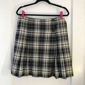 Ann Taylor LOFT Plaid Wrap Skirt